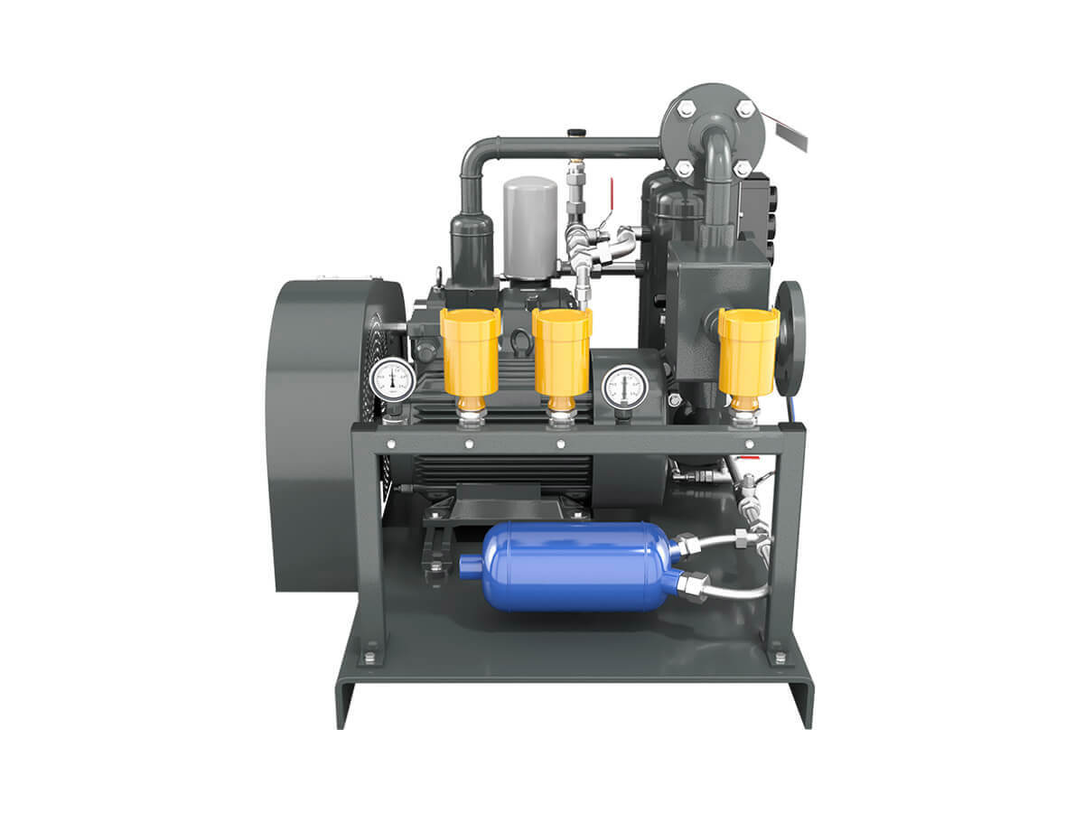 Screw-Type Compressor Unit for LPG
